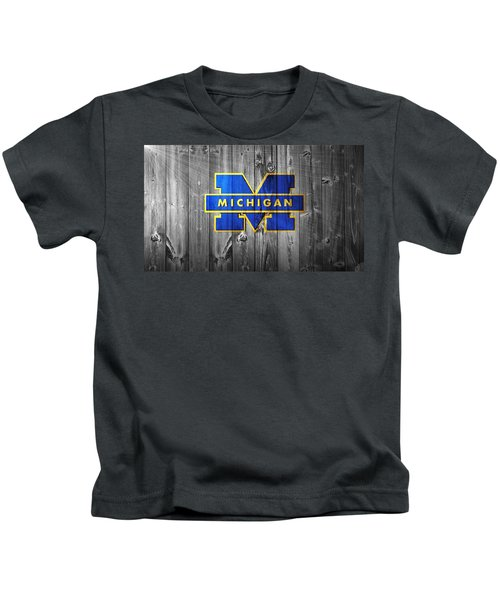 University Of Michigan Kids T-Shirt by Dan Sproul