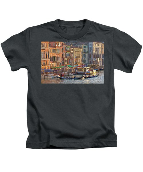 Venice Palazzi At Sundown Kids T-Shirt