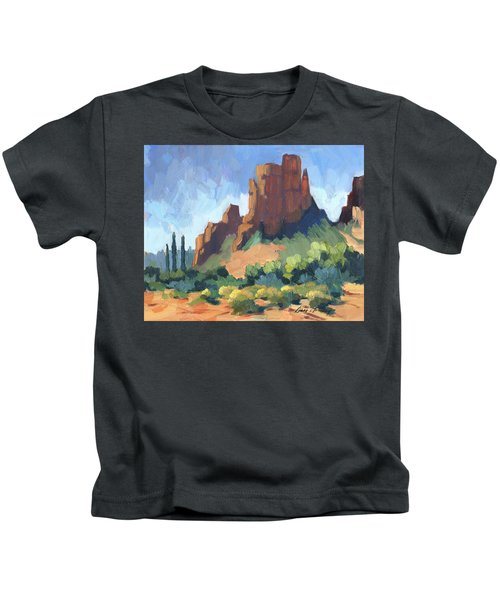View Of Cathedral Rock Sedona Kids T-Shirt