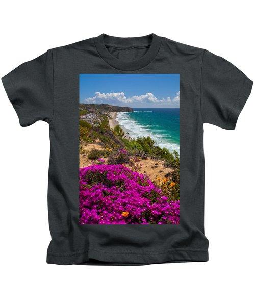 View Of Strand Beach And Dana Point Headland Kids T-Shirt