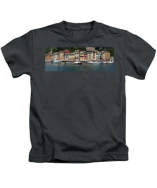 View Of The Portofino, Liguria, Italy Kids T-Shirt