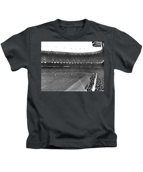 View Of Yankee Stadium Kids T-Shirt by Underwood Archives