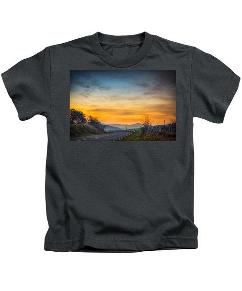 View Over Llyn Celyn Towards Bala Kids T-Shirt