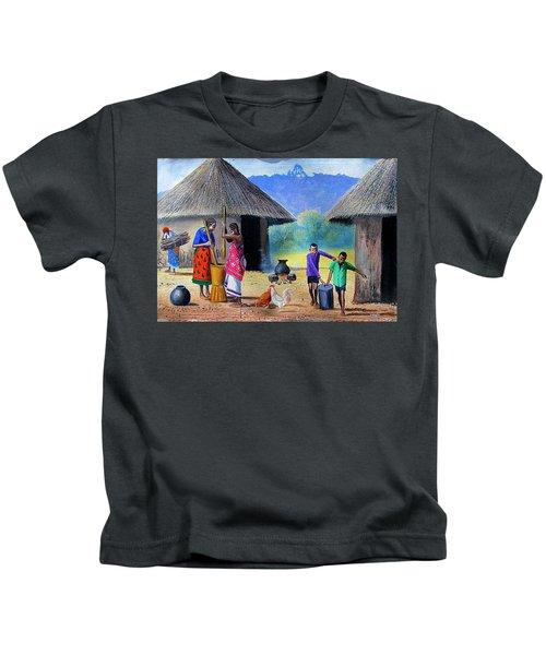 Village Chores Kids T-Shirt