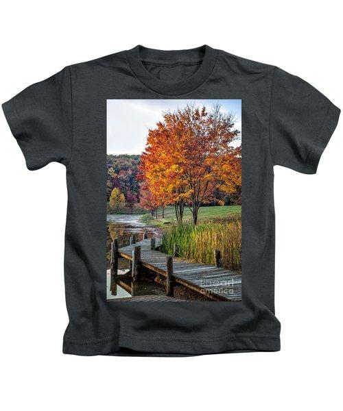 Walk Into Fall Kids T-Shirt