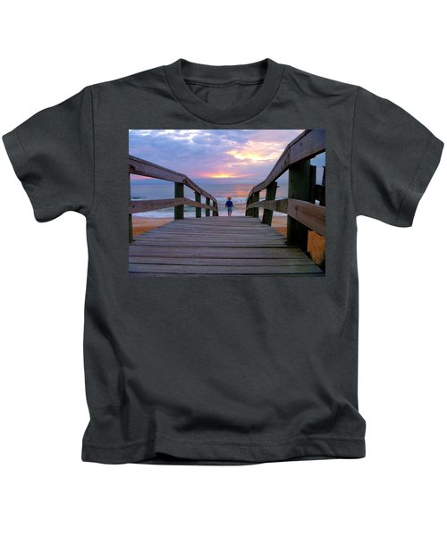 Walking Into Paradise Kids T-Shirt