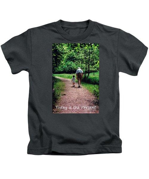 Walking With Grandma Kids T-Shirt
