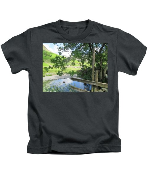 Wasdale Head Stile Kids T-Shirt by Kathy Spall