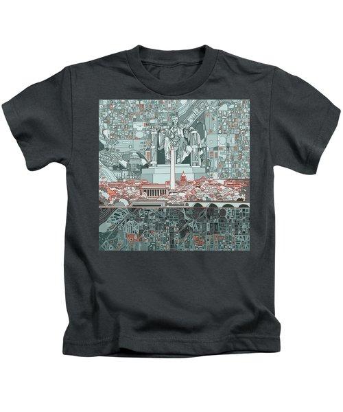 Washington Dc Skyline Abstract Kids T-Shirt