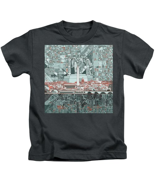Washington Dc Skyline Abstract Kids T-Shirt