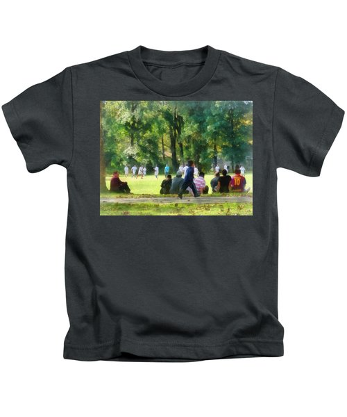 Watching The Soccer Game Kids T-Shirt