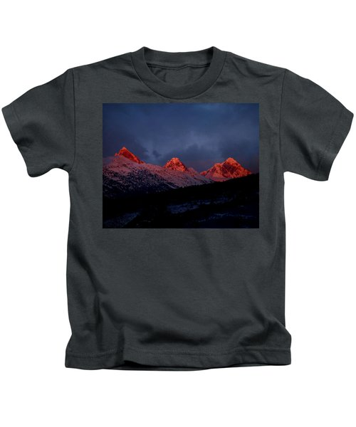 West Side Teton Sunset Kids T-Shirt