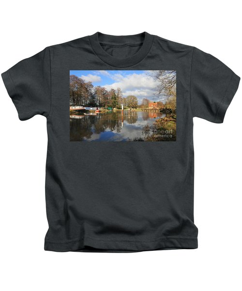 Wey Canal Surrey England Uk Kids T-Shirt