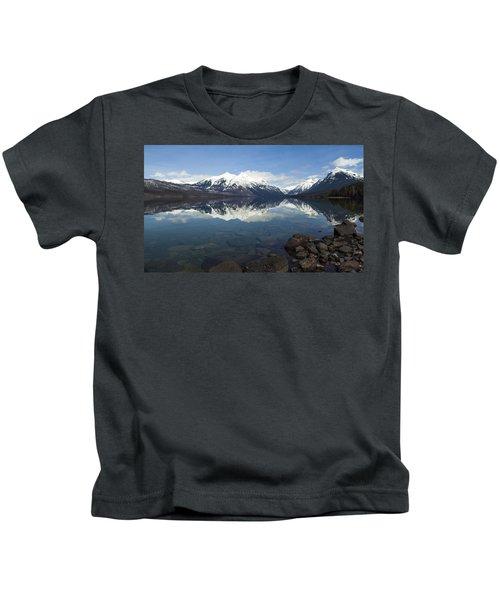 When The Sun Shines On Glacier National Park Kids T-Shirt