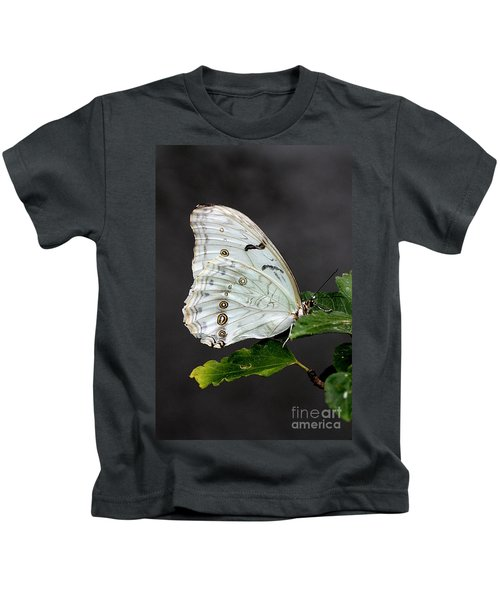 White Butterfly Kids T-Shirt