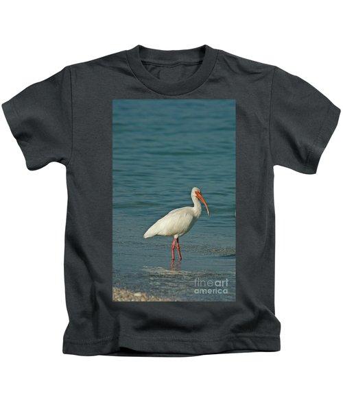 White Ibis Kids T-Shirt by Cindi Ressler