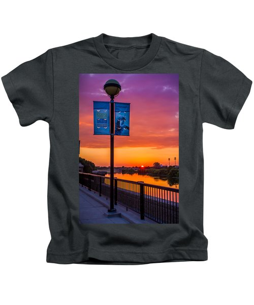 White River Sunset Kids T-Shirt