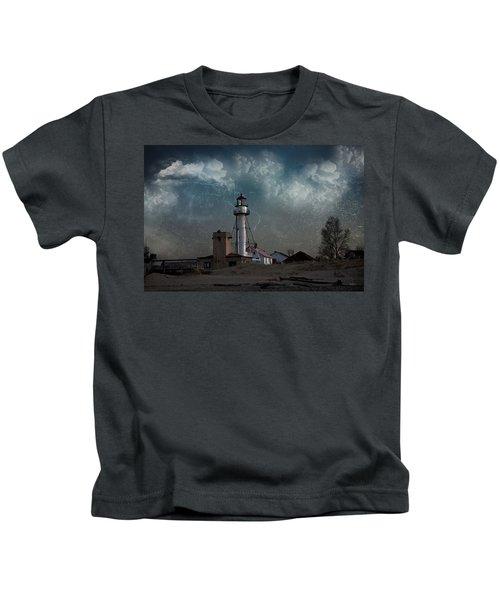 Whitefish Point Lighthouse Lake Superior Kids T-Shirt