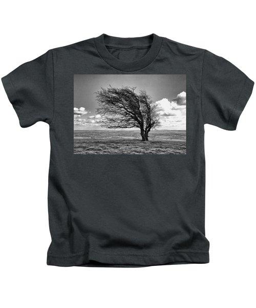 Windswept Tree On Knapp Hill Kids T-Shirt