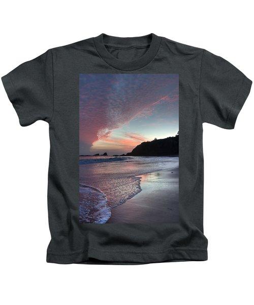 Winter Sunset Crescent Bay Kids T-Shirt
