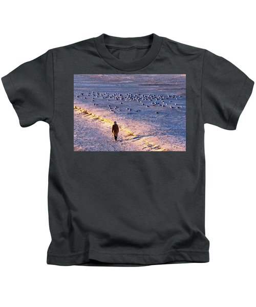 Winter Time At The Beach Kids T-Shirt