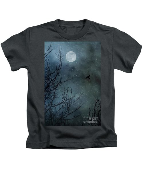 Winter's Silence Kids T-Shirt by Trish Mistric