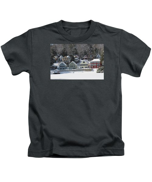 Wintery Alton Bay Nh Kids T-Shirt