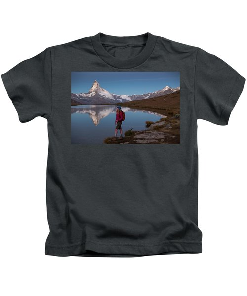 With The Matterhorn In The Background Kids T-Shirt
