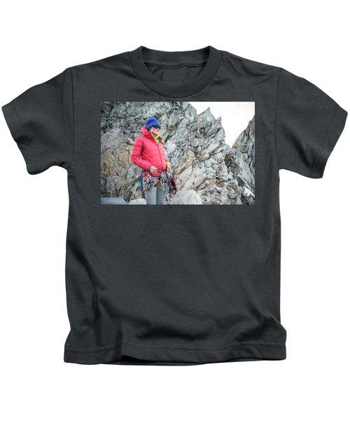 Woman On The North Ridge Of Forbidden Kids T-Shirt