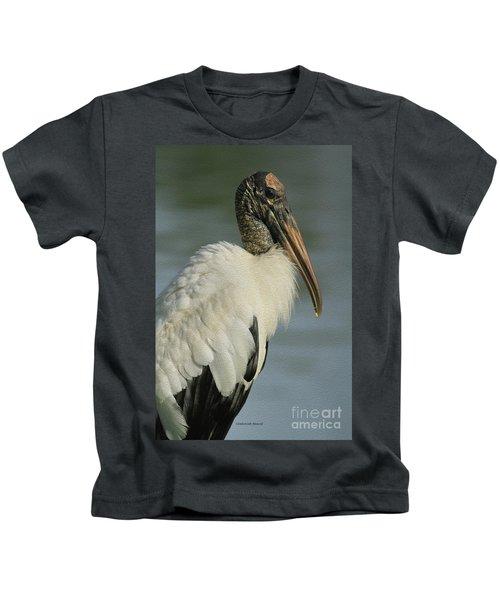 Wood Stork In Oil Kids T-Shirt