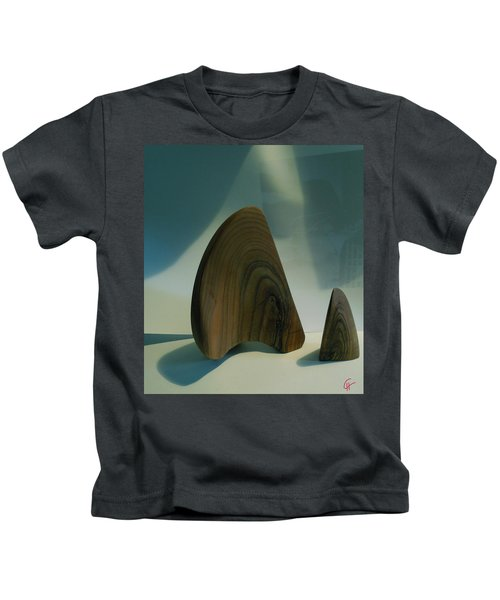 Kids T-Shirt featuring the photograph Wood Zen Harmony by Colette V Hera  Guggenheim