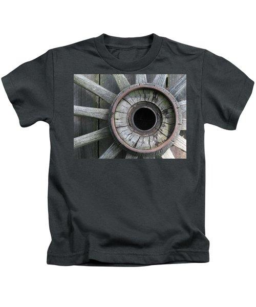 Wooden Wheel Kids T-Shirt