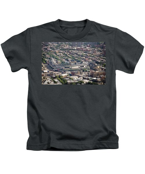 Wrigley Field - Home Of The Chicago Cubs Kids T-Shirt by Adam Romanowicz