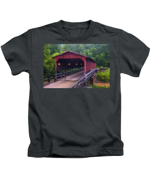 Wv Covered Bridge Kids T-Shirt