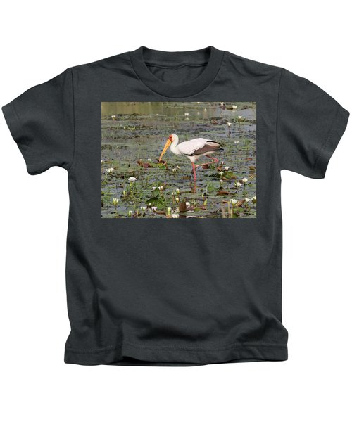 Yellow-billed Stork Mycteria Ibis Kids T-Shirt