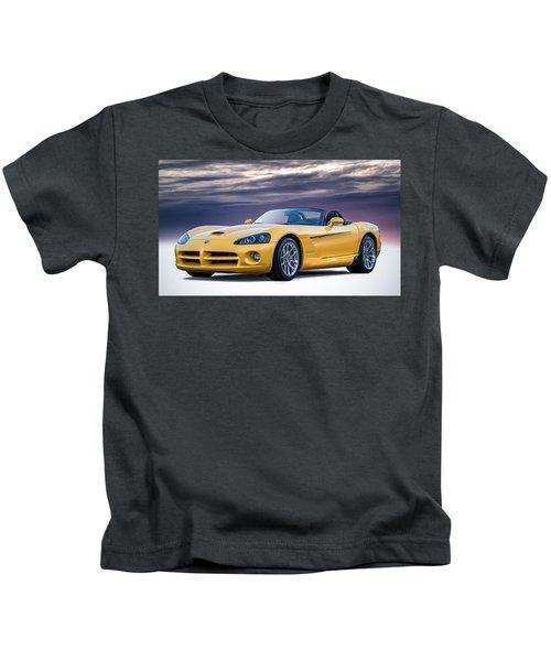 Yellow Viper Convertible Kids T-Shirt