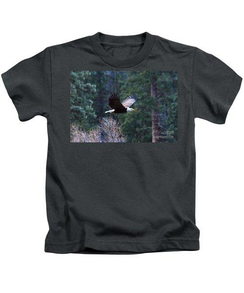 Yosemite Bald Eagle Kids T-Shirt