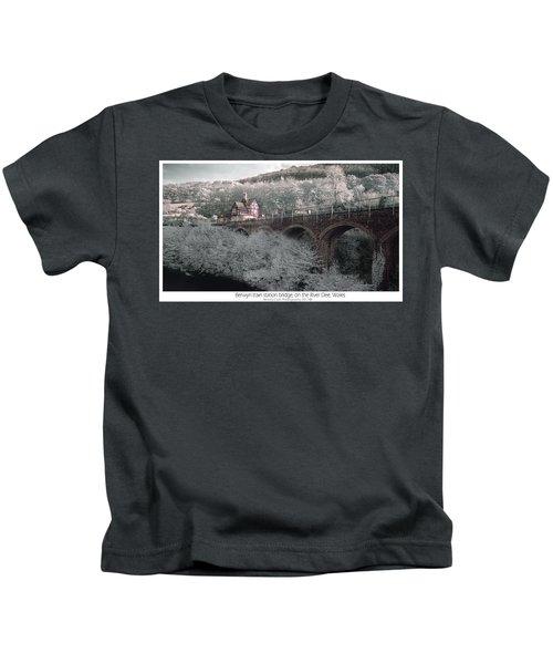Infrared Train Station Bridge Kids T-Shirt