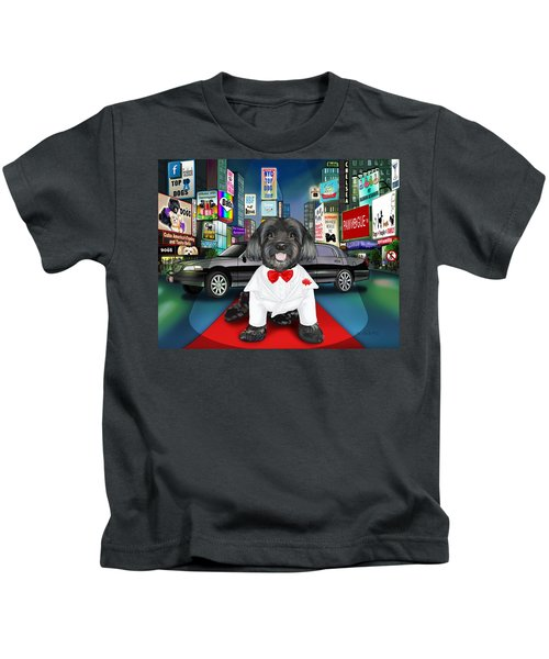 Sir Cuba Of Chelsea In Times Square Nyc Kids T-Shirt