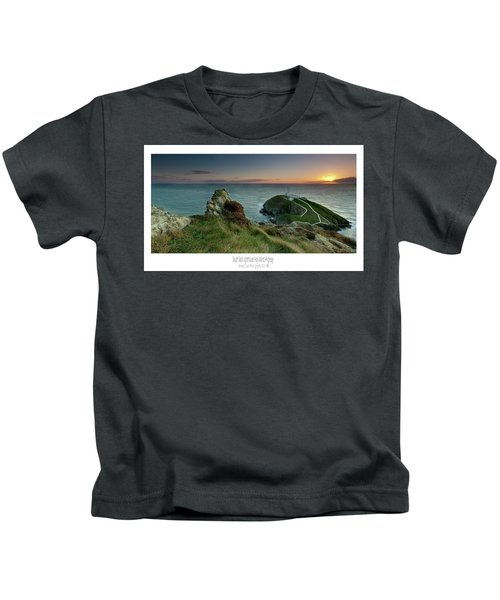 Sunset At South Stack Lighthouse Kids T-Shirt