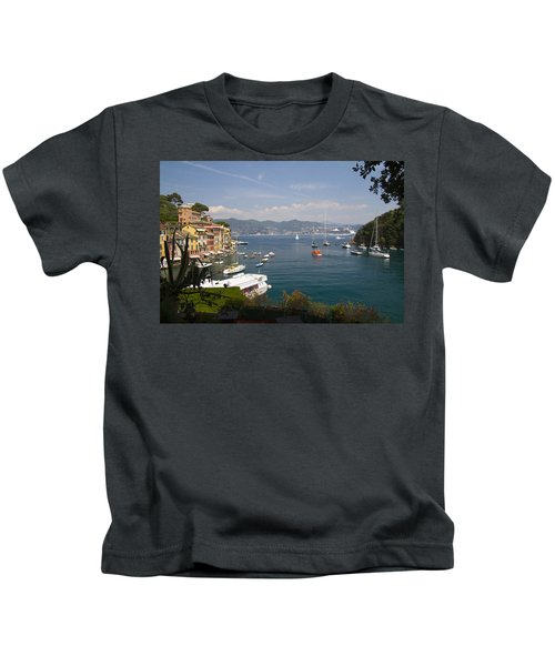 Portofino In The Italian Riviera In Liguria Italy Kids T-Shirt