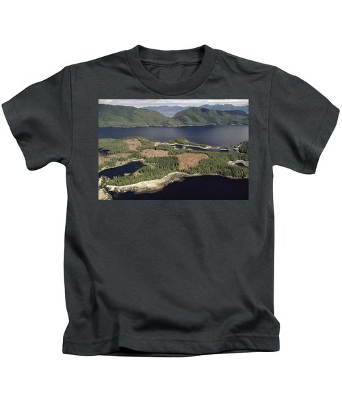 Aerial View Of Clearcut Temperate Kids T-Shirt