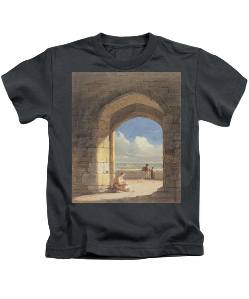 An Arch At Holy Island - Northumberland Kids T-Shirt