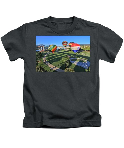 Balloons In Coolidge Park Kids T-Shirt