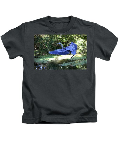 Big Blue In Flight Kids T-Shirt