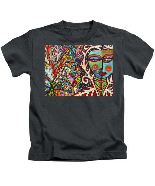 -bone Tree Of Life Skeleton Goddess Kids T-Shirt