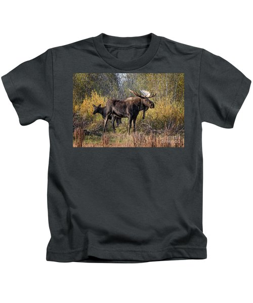 Bull Tolerates Calf Kids T-Shirt