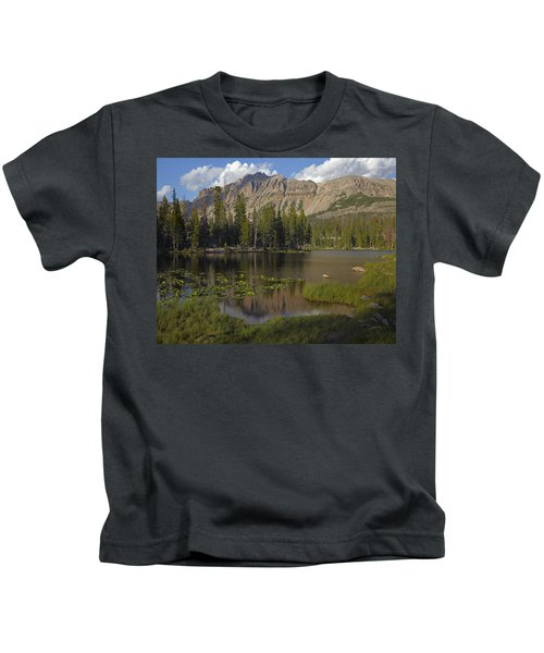 Butterfly Lake Uinta Range Utah Kids T-Shirt
