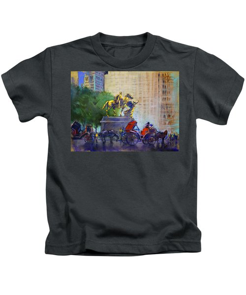 Carriage Rides In Nyc Kids T-Shirt