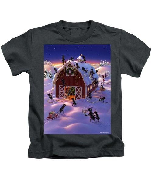 Christmas Decorator Ants Kids T-Shirt
